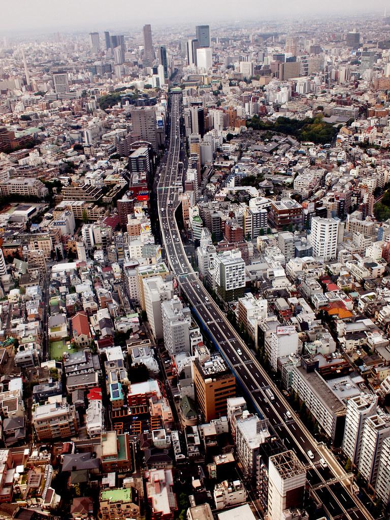 View from Mori Building, Roppongi, Tokyo, Japan