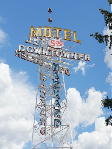 Downtowner Motel sign, Flagstaff, Arizona