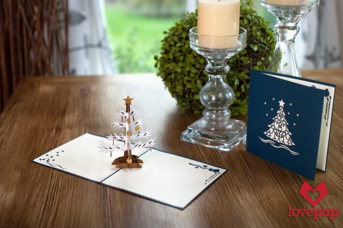 Pop-Up Christmas Tree Card - LovePop