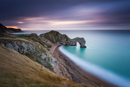 door light sea england cloud colour beach sunrise movement long exposure arch jake unitedkingdom smooth cliffs dorset pike curve durdle westlulworth