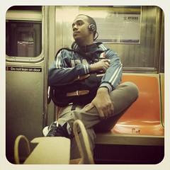 Monday afternoon 1 train. #nycsubwayportraits #nyc #train #subway #publictransportation #commute #1train