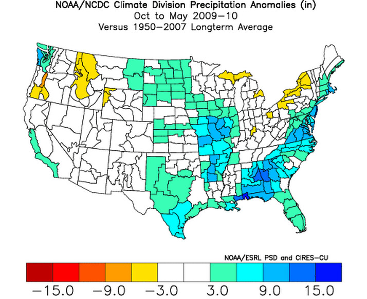 2009-10 precipitation anomalies