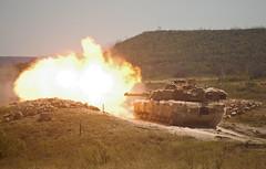 Black Jack Abrams creates fireball during gunnery training