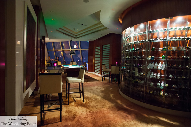 Interior of 789 Nanjing Lu Bar + Lounge on the 66th Floor