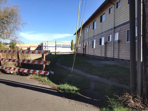Desire path - SW Millikan Way to SW Lombard, Beaverton OR
