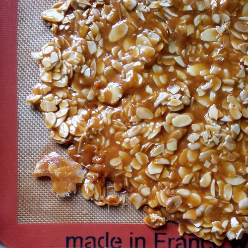 Baked Alaska: Almond Brittle