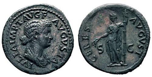 No. 118 TITUS, 79-81. For Iulia Titi. Dupondius