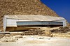 THE BOAT MUSEUM AT GIZA NEXT TO THE GREAT PYRAMID.