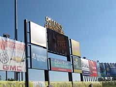 The Main Scoreboard at Regency Furniture Stadium -- Waldorf, MD, July 25, 2014