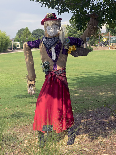 Huntsville Botanical Garden 09-05-2014- Little Red Riding Cowgirl Scarecrow