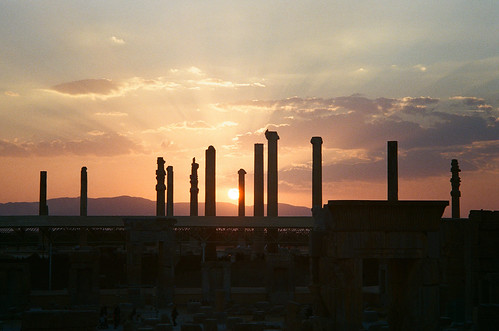 sunset film gold iran kodak super 400 agfa 日落 persepolis silette ambi 伊朗 波斯波利斯