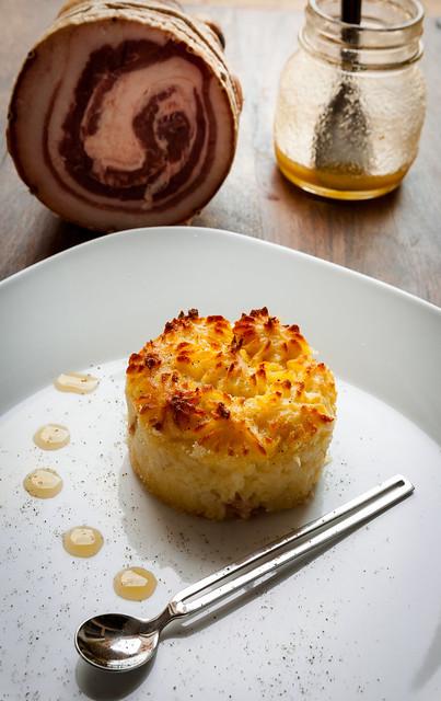 gatto di patate con pancetta-3