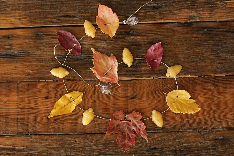 beeswax leaf garland
