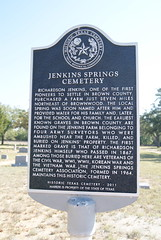 Photo of Jenkins Springs Cemetery, Brownwood, TX black plaque