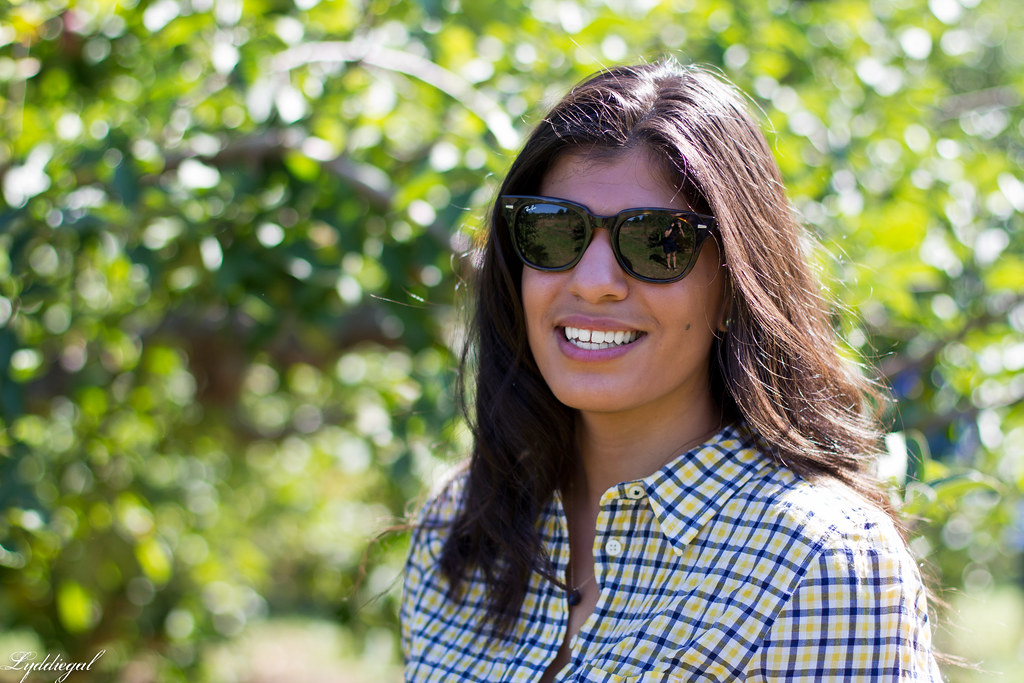 plaid shirt and denim shorts for apple picking-4.jpg