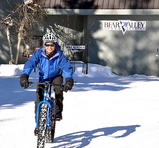 Fat biking at Bear Valley Nordic Center