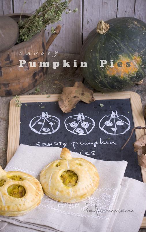 Savory pumpkin pies