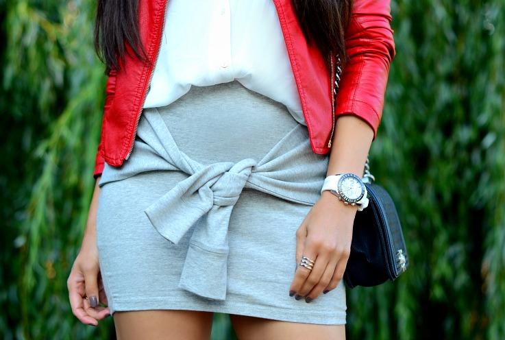 DSC_9878 wrap around skirt Zara, Chanel boy bag, Armani watch