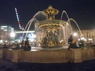 Fuente en la plaza de la Concordia