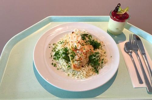 Barschfilet mit Bohnenreis / Perch filet with bean rice