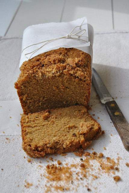Coffee and spice flavoured loaf cake