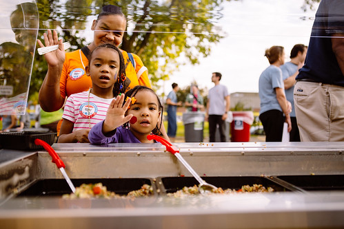Families sample local foods and learn about healthy options at the Minneapolis Public Schools third annual Farm to School Community BBQ.