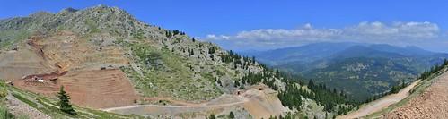 panorama landscape greece centralgreece mtgiona