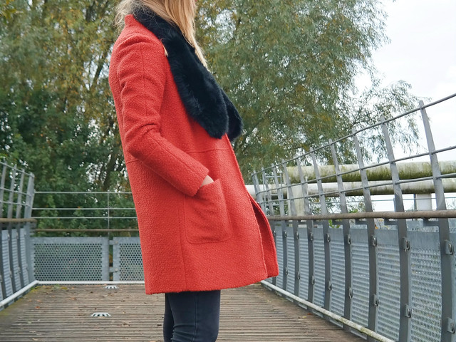 The orange coat outfit post