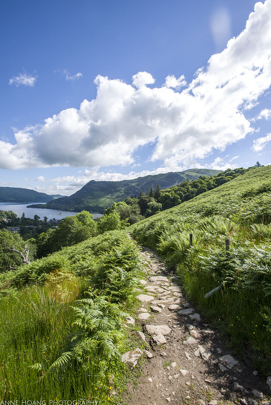 Hiking trail in Lake District