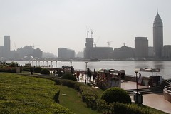 Parks and gardens along the Pudong side of the Huangpu River