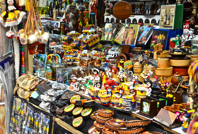 handicraft market in medellin, colombia
