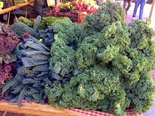 Kale at a Farmer's Market at Civic Center in San Francisco