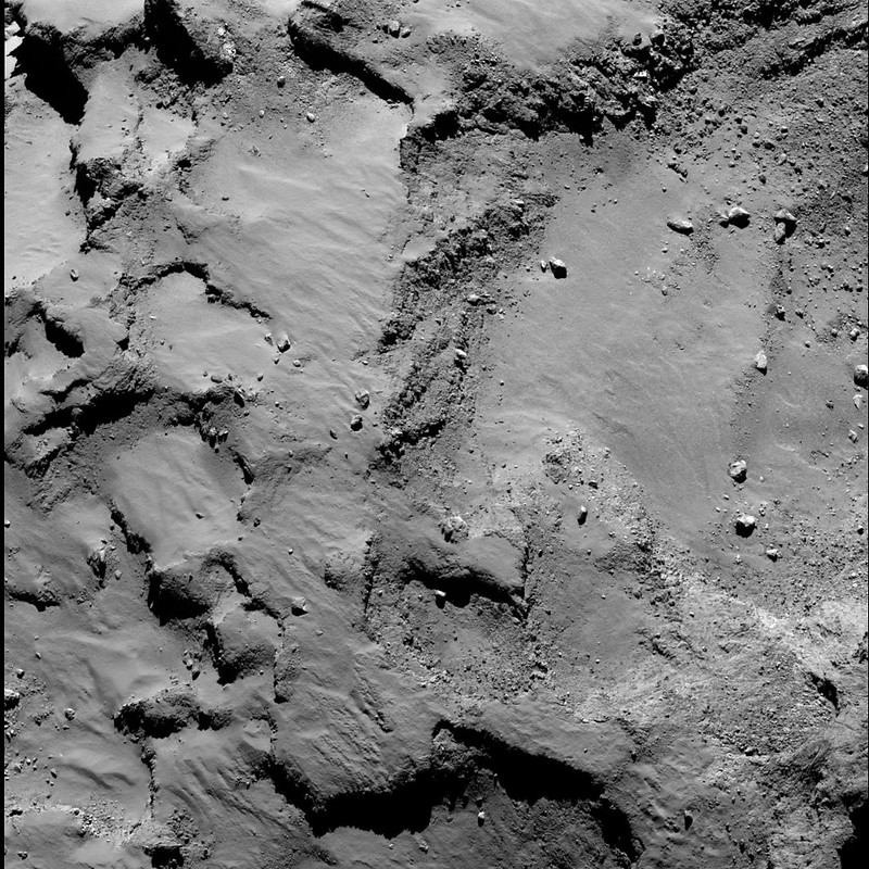 Philae's primary landing site from 30 km (a)