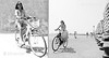 Macedonia, Thessaloniki, women cycling along Thermaicos bay seafront, Greece #Μacedonia by gentle wolf