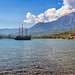 Tour ship in Phaselis Harbor in Antalya, Turkey by CamelKW