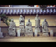 Stone people in Zentsuji (Shikoku, Japan)