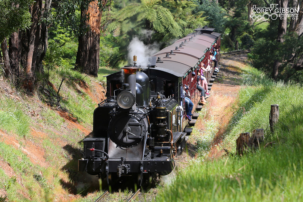 Puffing Billy Railway - 14A climbing Emerald Bank by Corey Gibson