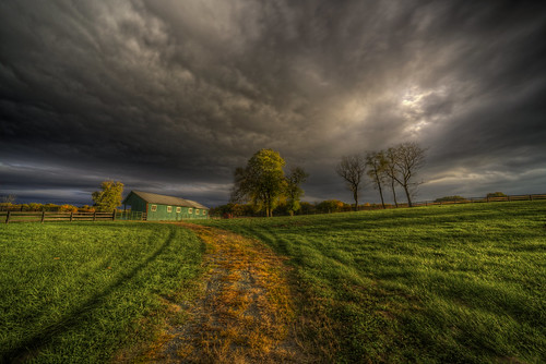 road county blue autumn trees sunset storm green alex field grass yellow clouds grey golden virginia nikon dusk farm ominous magic country va hour stable hdr loudoun purcellville erkiletian d800e