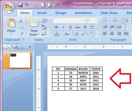 6 langkah cara memindahkan tabel dari excel ke powerpoint2