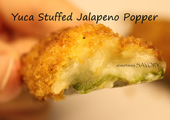 Yuca Stuffed Jalapeno Popper