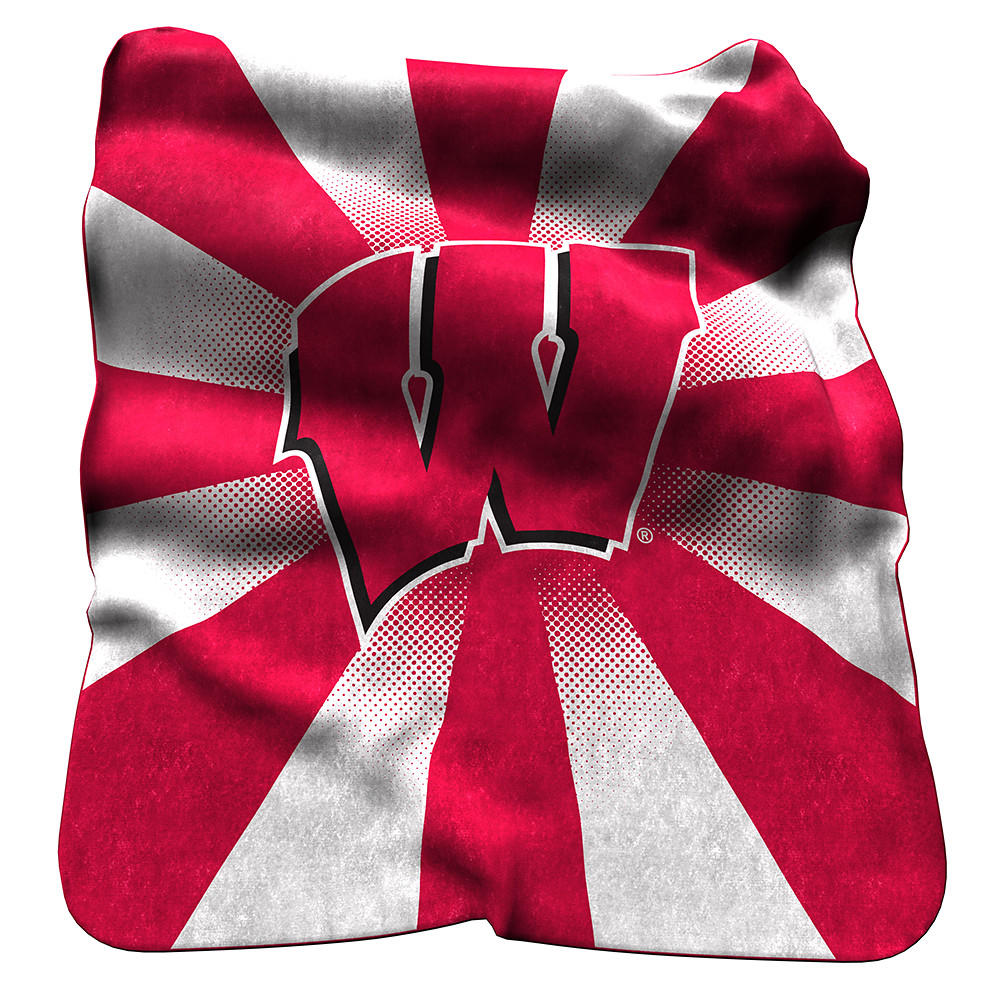 Wisconsin Badgers NCAA Raschel Blanket