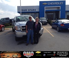 #HappyAnniversary to Ken and Sherie Rondeau on your 2013 #Chevrolet #Silverado 2500Hd from Everyone at Four Stars Auto Ranch!