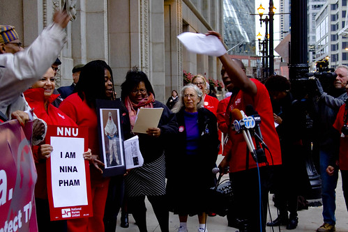National Nurses United Chicago Chapter Press Conference About the Ebola Situation 1273