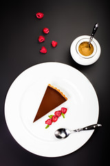 Delicious Piece of Chocolate pie. Chocolate cheese…