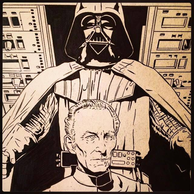 Vader and Tarkin by Joe Corroney