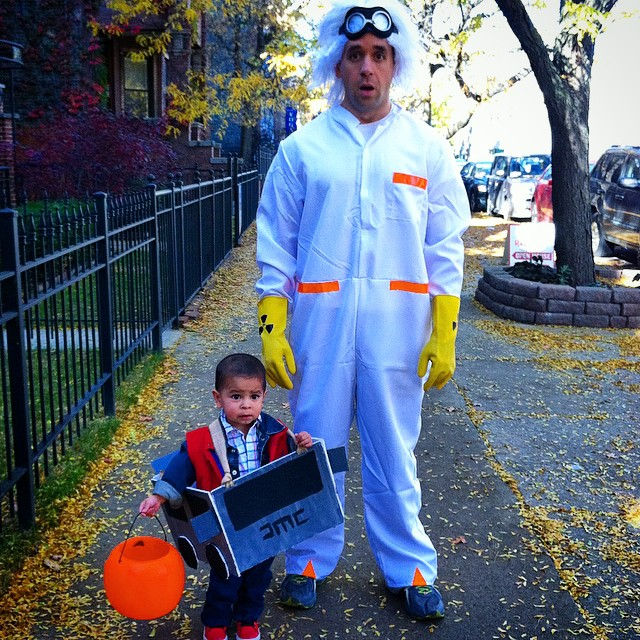 Where we're going we don't need roads #southportcorridor #bakctothefuture #happyhalloween #likefatherlikeson