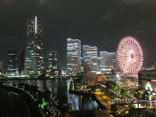 Night view of Yokohama city in Japan: 横浜、夜景