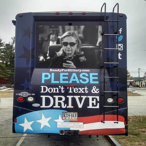 "Madame Secretary Says ""Please Don't Text & Drive"""