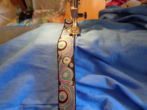 embellishing a plain dress.