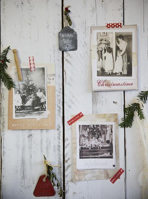 Brocante kerstkaarten als poster 2014 Vintage Christmas - Brocantepost 3
